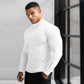 New muscle captain sports long sleeve men's loose t 桖 training stretch in the autumn and winter comfortable fitness top
