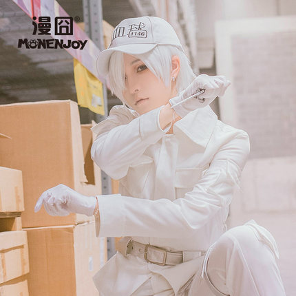 42agent [囧囧] work cell COS white blood cell white blood cells in July new fan cosplay wig white spot - tmall.com lynx