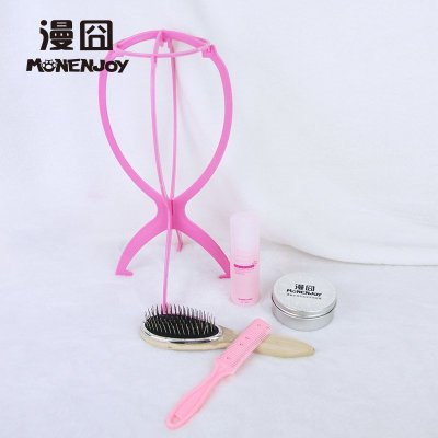taobao agent 【Ridiculous】 Wig holder Hair wax Nursing solution Steel comb Wooden comb Thinning comb Accessory package