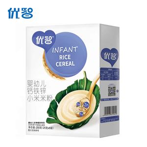 优智小米米粉钙铁锌婴儿米糊宝宝营养辅食 全1段6-36个月盒装200g