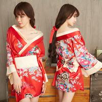 Сексуальное белье пижамы сексуальная супер Sao грудь накладка Бюстгальтер с каплей крови дразнит прозрачную страсть кимоно комплект TH