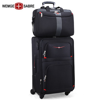 Swiss Army Knife and Child Luggage Trolley Box Universal Wheel Oxford Cloth Business Suitcase Male Luggage Password Box