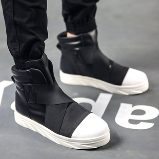 2019 new winter personality tide shoes Korean version of the trend of men's high-top sneakers hip-hop hip-hop net red men's shoes