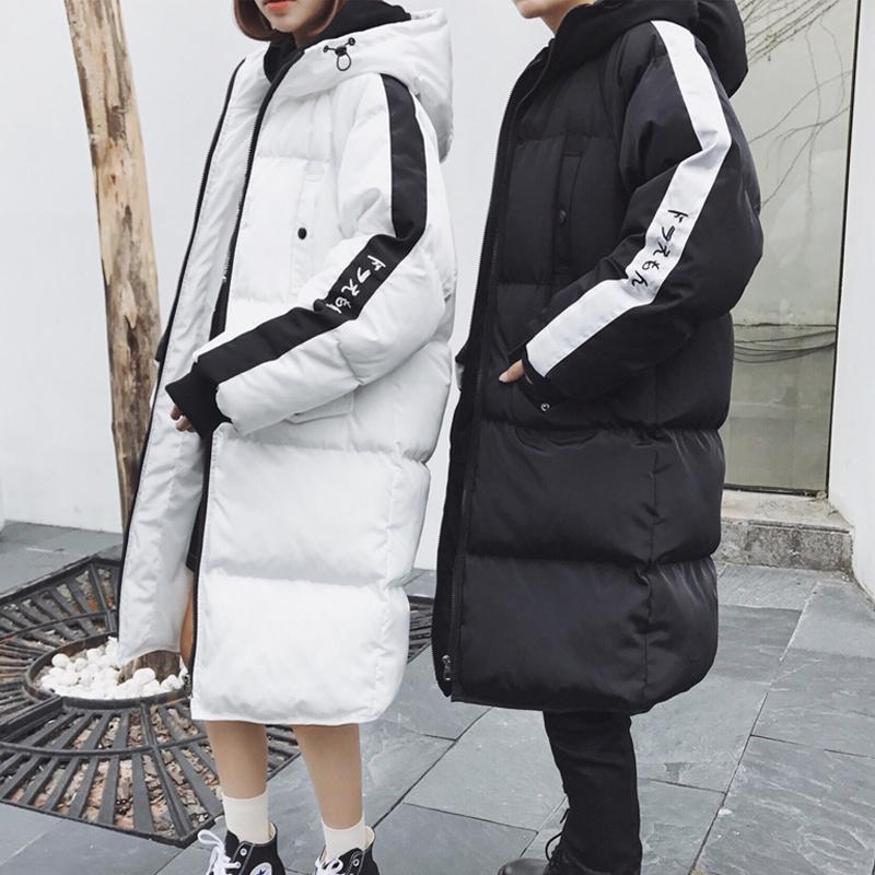 Cặp vợ chồng quần áo mùa đông trong phần dài của bánh mì dịch vụ Hàn Quốc phiên bản của dày chic coat nam sinh viên xu hướng bông quần áo áo khoác bf