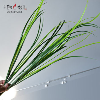 Long branch orchid leaf simulation green plant fake flower ingredients gardening flower arrangement plastic flowers home decoration bouquet