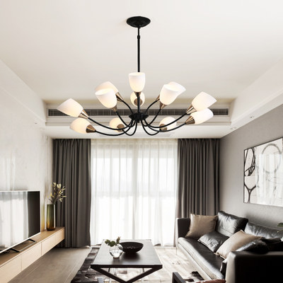 Nordic dining chandelier modern minimalist creative personality atmosphere home dining light bar living room shape chandelier