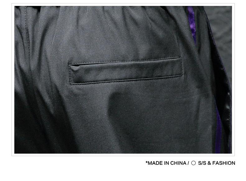 裤子男秋冬束脚裤韩版潮流宽松加绒加厚休闲裤学生小脚运动男裤子商品详情图