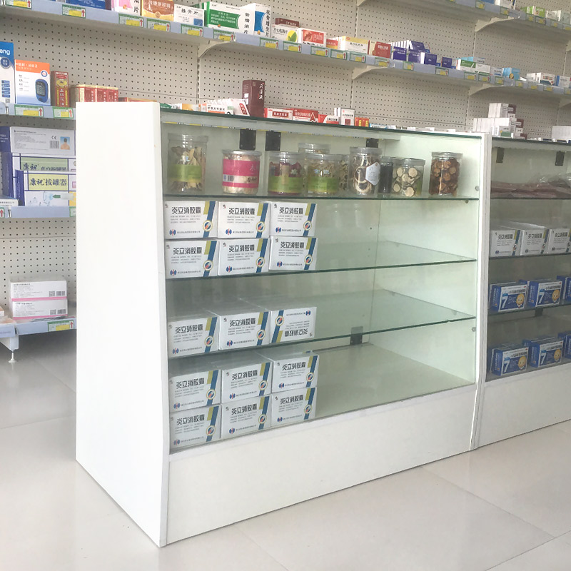 Pharmacy Shelf Western Medicine Counter Pharmacy Glass Counter Wooden Display  Cabinet Medicine Cabinet With Lock In ...