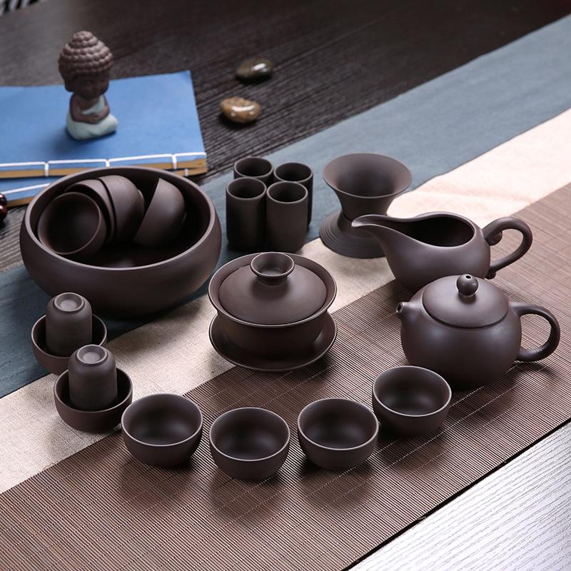 澜扬紫砂茶具陶瓷功夫茶具套装茶杯茶壶整套茶具茶道家用简约