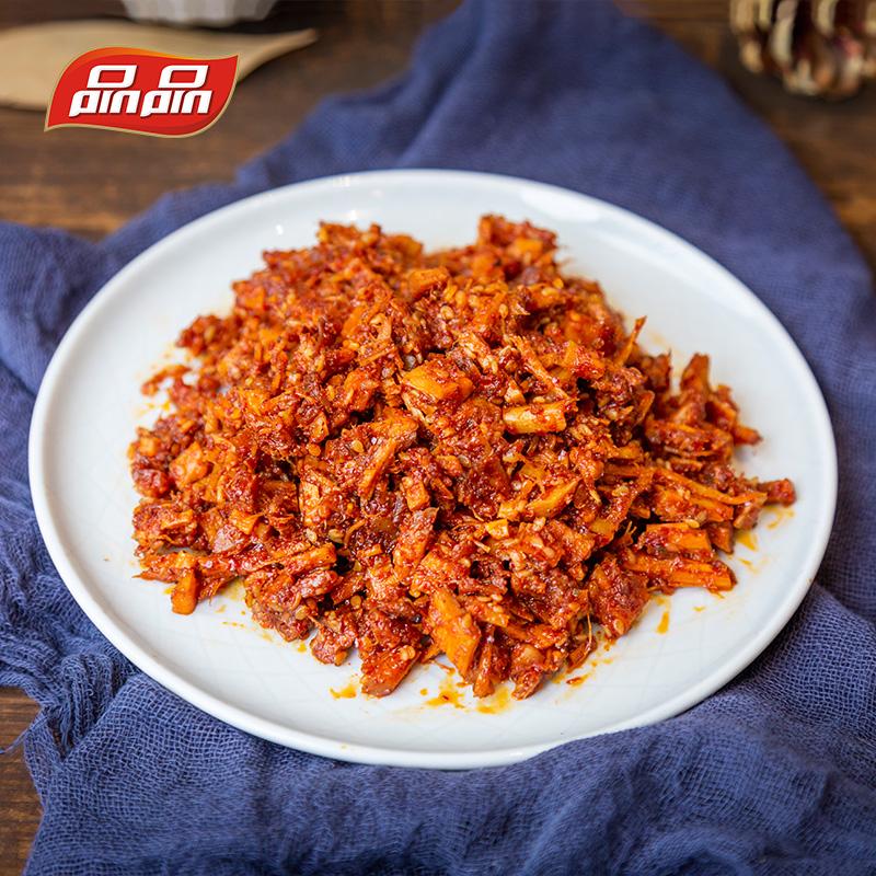 品品牛板筋 麻辣烧烤味牛肉干辣条零食小吃散装小包装12g*15袋