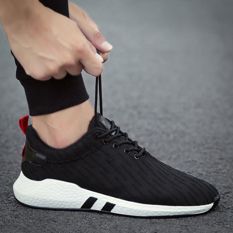 2020 new flight-knit sports leisure fashion shoes go with running mesh upper men's shoes summer breathable mesh shoes board shoes