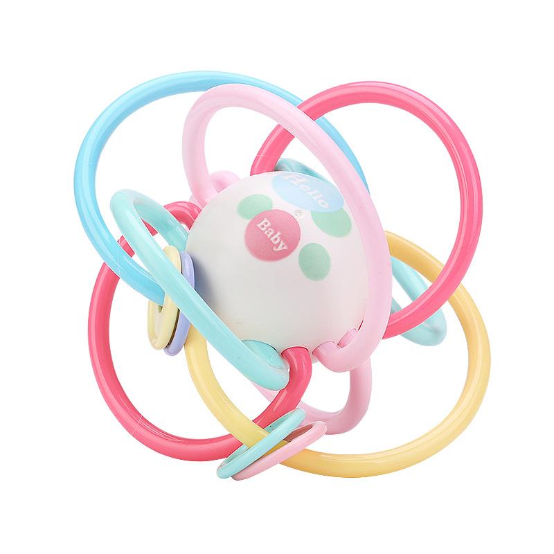 宝宝牙胶磨牙棒咬咬胶婴儿早教益智玩具曼哈顿手抓球0-3-6-12个月