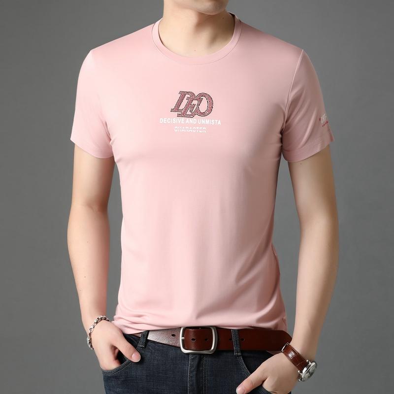 西梵尼短袖t恤男2020夏季新款男士半袖丝光棉打底休闲体恤男装潮