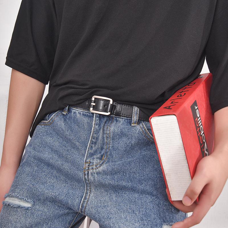小皮帶男年輕人潮人青年韓版窄潮流個性ins風牛仔褲帶褲腰帶女細