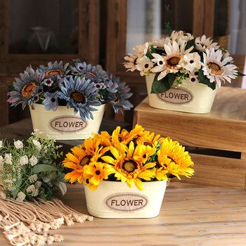 Beanstalk American gardening simulation sunflower floral home living room decorative artificial flowers bonsai ornaments window shopping