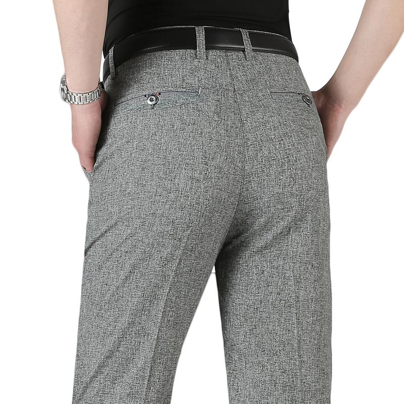 2018 người đàn ông phần mỏng của 50-60 tuổi quần cũ trung niên quần âu lỏng trung niên quần của nam giới quần cha