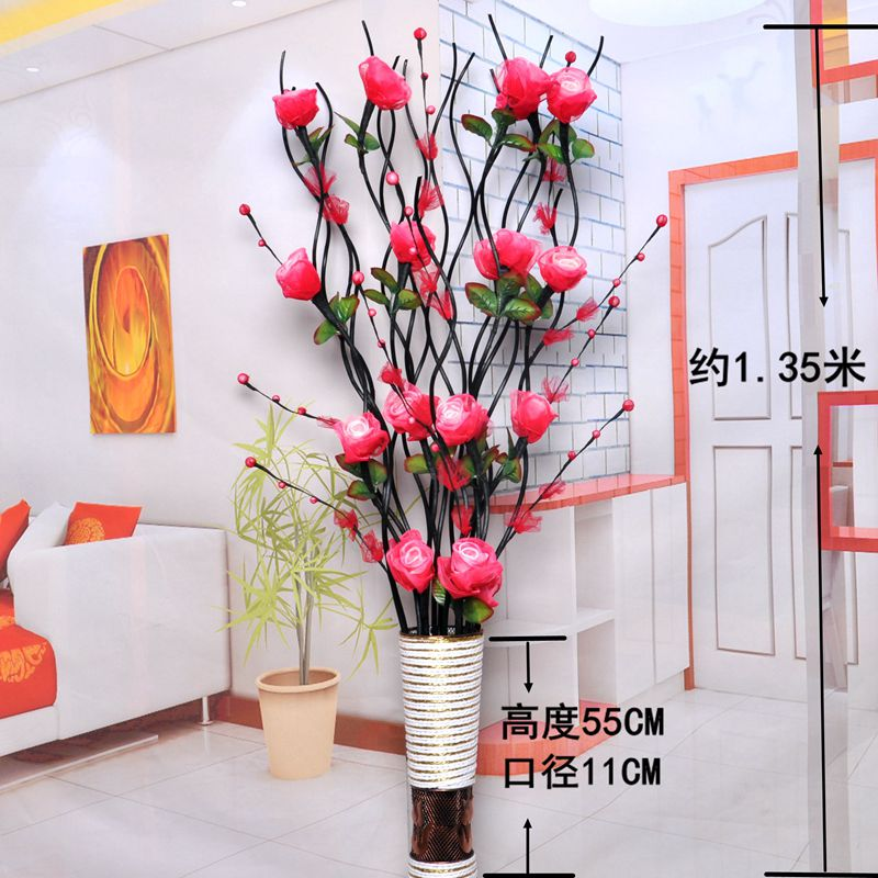 Leaf veins bouquets fake flowers artificial flower ornaments floor ...