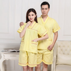 New style of pure cotton men's and women's sweat-steaming clothes, bathing clothes, bathing clothes, sauna clothes, Duobaoxing Ivyi Hot Spring Club