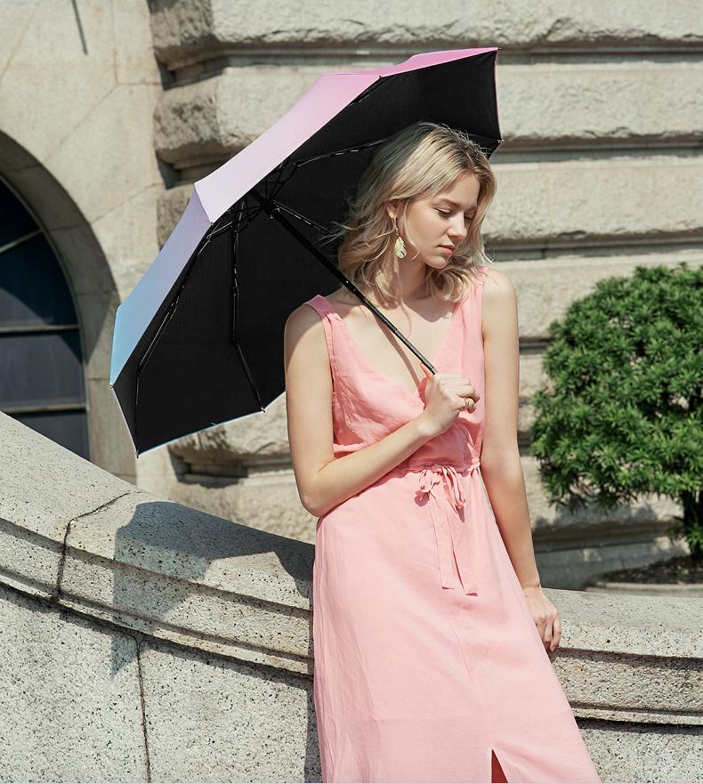 左都迷你遮阳伞超轻小防晒伞女抗口袋胶囊晴雨伞两用遮阳伞详细照片