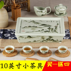 Chaozhou Ceramic Porcelain High-end Chaoshan Kung Fu Tea Set Set Household Small Set Small 4 People Simple Tea Tray