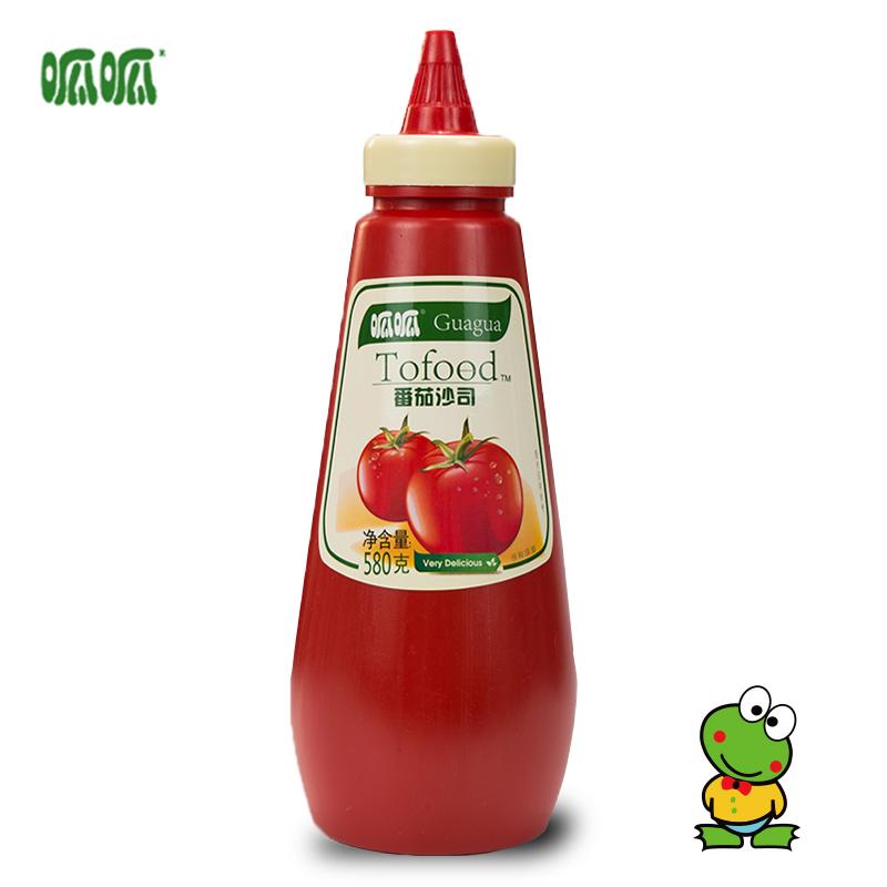 【呱呱】酱料番茄沙司挤压瓶装580g