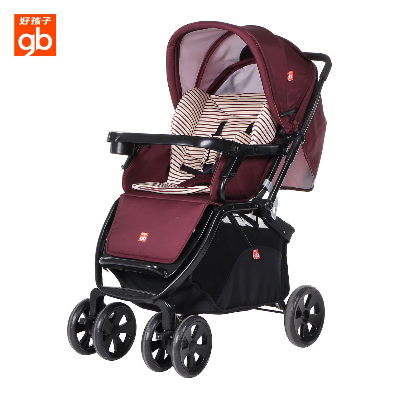 Xe đẩy em bé Goodbaby phong cảnh cao dễ dàng gấp xe đẩy em bé C400 - Xe đẩy / Đi bộ