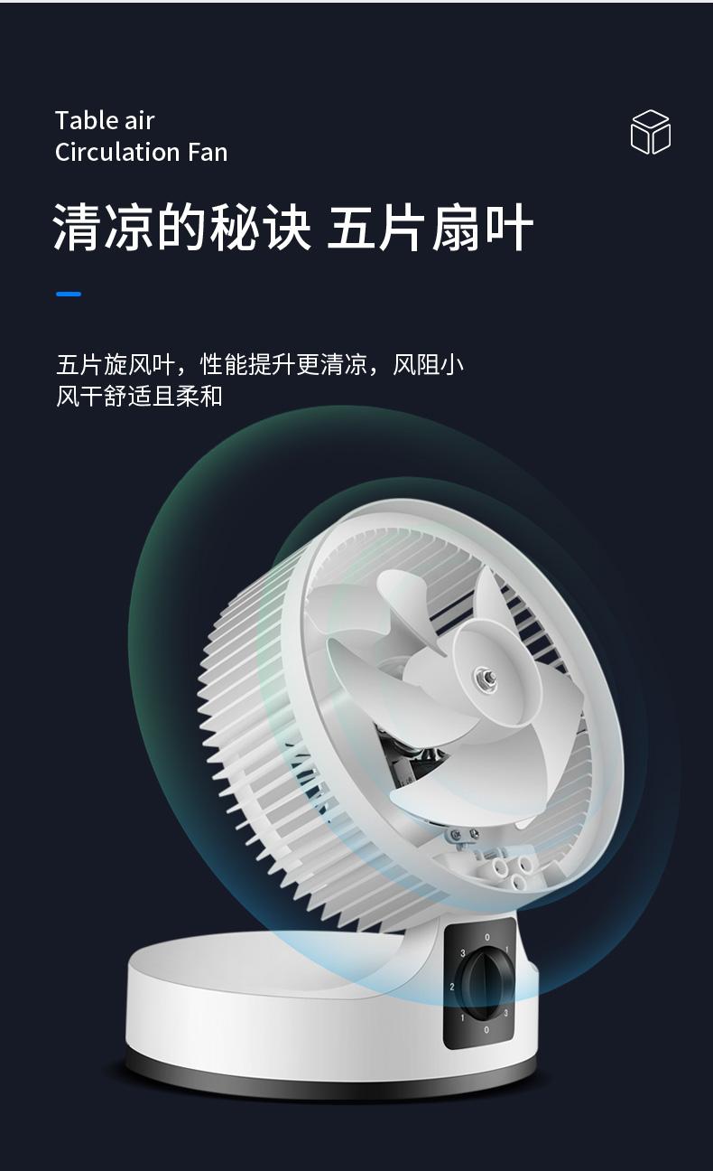 水星 空气循环扇 3D涡轮聚风 图3