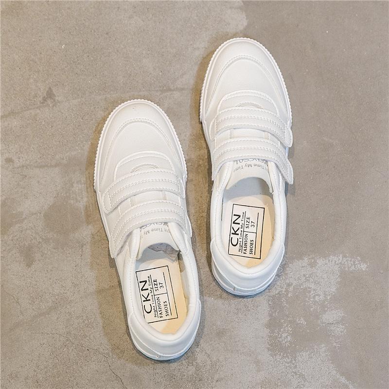魔术贴小白鞋女原宿ulzzang帆布鞋超火2018春季新款韩版百搭板鞋