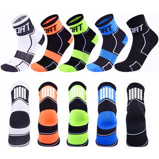 Professional mid-tube cycling socks breathable and quick-drying sweat-absorbent bicycle socks sports socks men and women running night running reflective socks