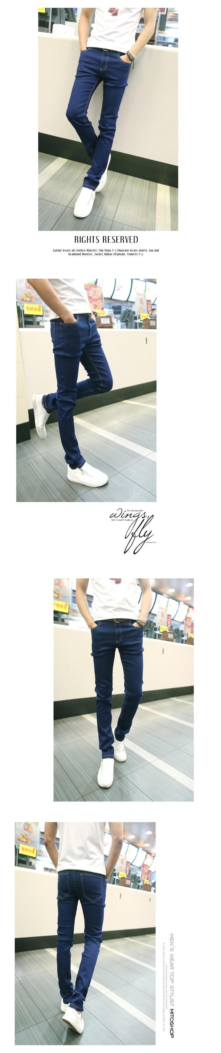 Denim phù hợp với nam giới mùa xuân và mùa thu mới của Hàn Quốc phiên bản của denim mỏng áo khoác nam áo khoác với quần denim bộ