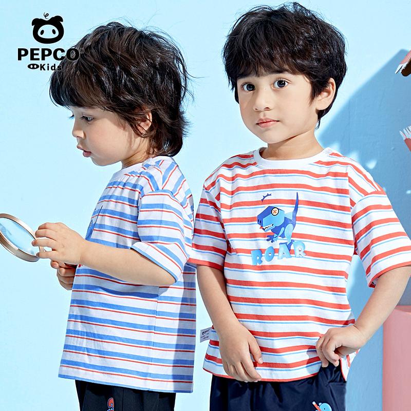 小猪班纳男童t恤春夏薄款儿童短袖t恤纯棉女童宝宝POLO衫半袖上衣