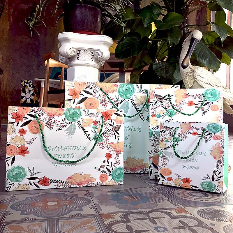 时尚加厚服装店鞋店包装袋手提袋化妆品礼品购物袋子纸袋定制包邮