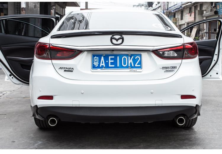 Logo Carbon trang trí trước sau xe Mazda 6 - ảnh 18