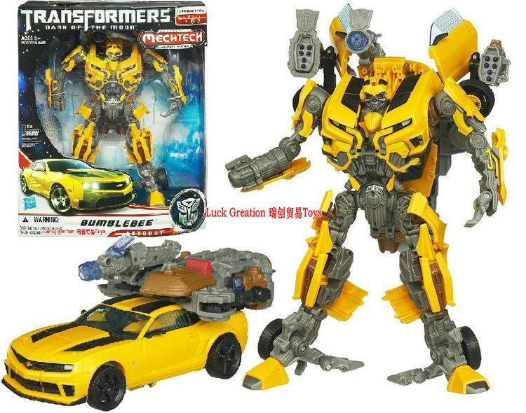 Rui Chuang Hasbro Transformers toys movie 3 L Class Bumblebee sound light  robot genuine factory goods