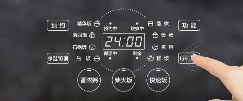 美的电饭煲家用电饭锅智能多功能正品4-6-8人5L升大容量Easy501商品详情图