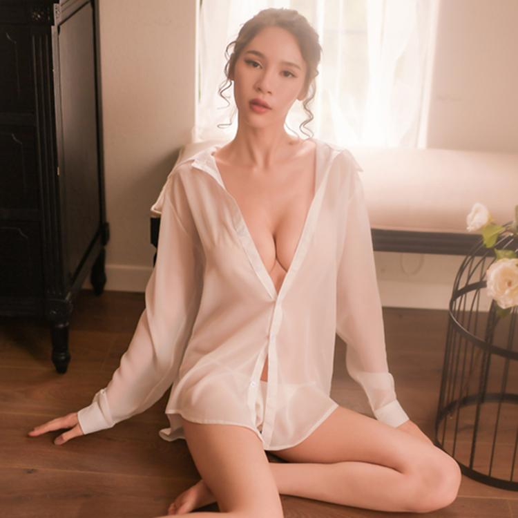 7794753f7 ... Sexy pajamas female summer hot sexy lingerie nightdress temptation  large size perspective ice silk husband skirt