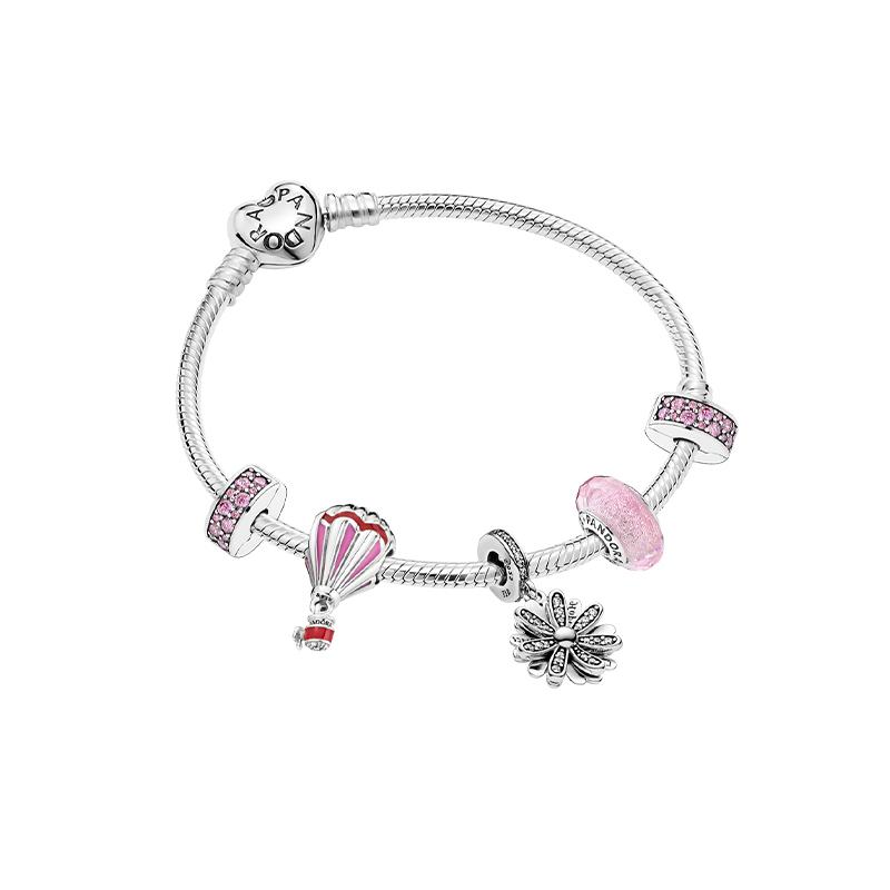 Pandora潘多拉925银浪漫邂逅手链套装ZT0358礼物!礼物