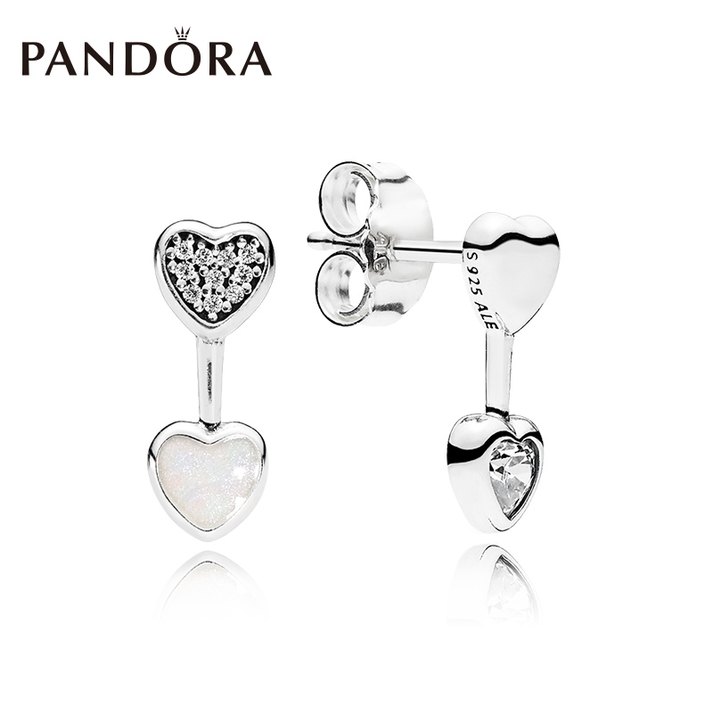 Pandora Love Heart 925 Silver Earrings 290750cz S Fresh Shaped