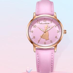 迪士尼韩版简约可爱公主女童手表