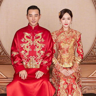 Tang Yanxiu's Wo Clothes Bride Chinese Wedding Dresses, Wine Dresses, Wedding Dresses and Kimonos 2019