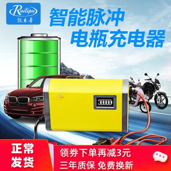 Ruilip 12v charger motorcycle battery charger car dry water lead-acid battery charger