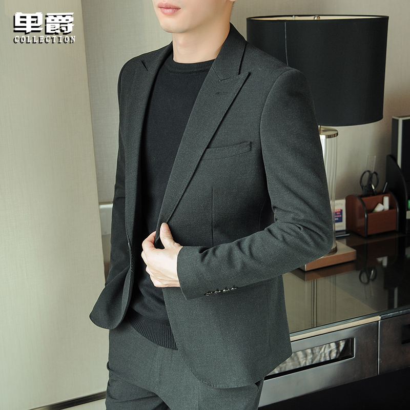 2020 new men's casual suit a suit trend handsome small suit Korean version slimmed spring and autumn jacket top