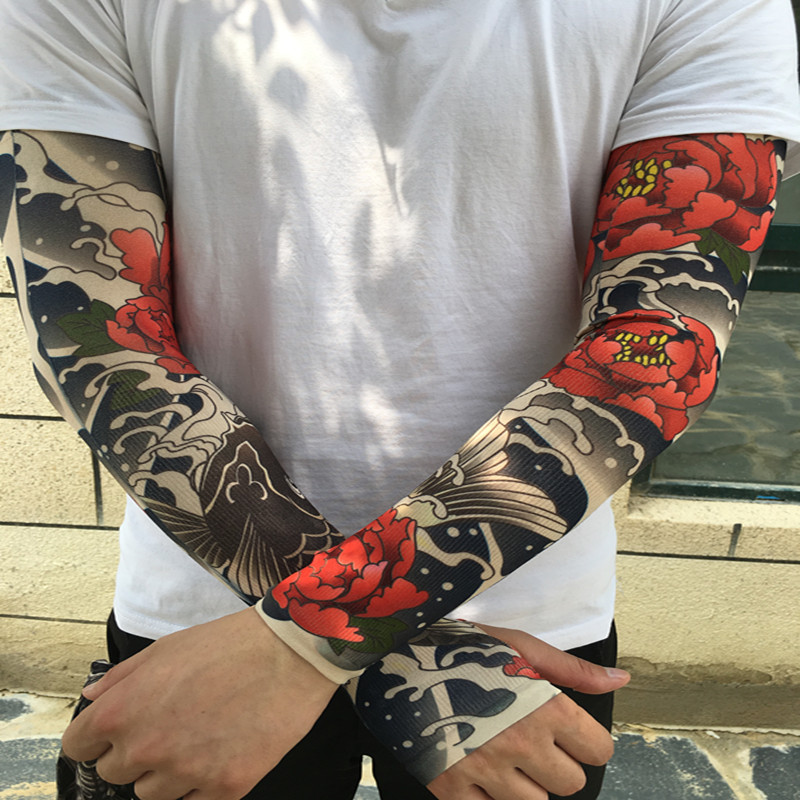 Usd 1040 Tattoo Sleeve Sleeve Flower Arm Tattoo Men And Women Ice