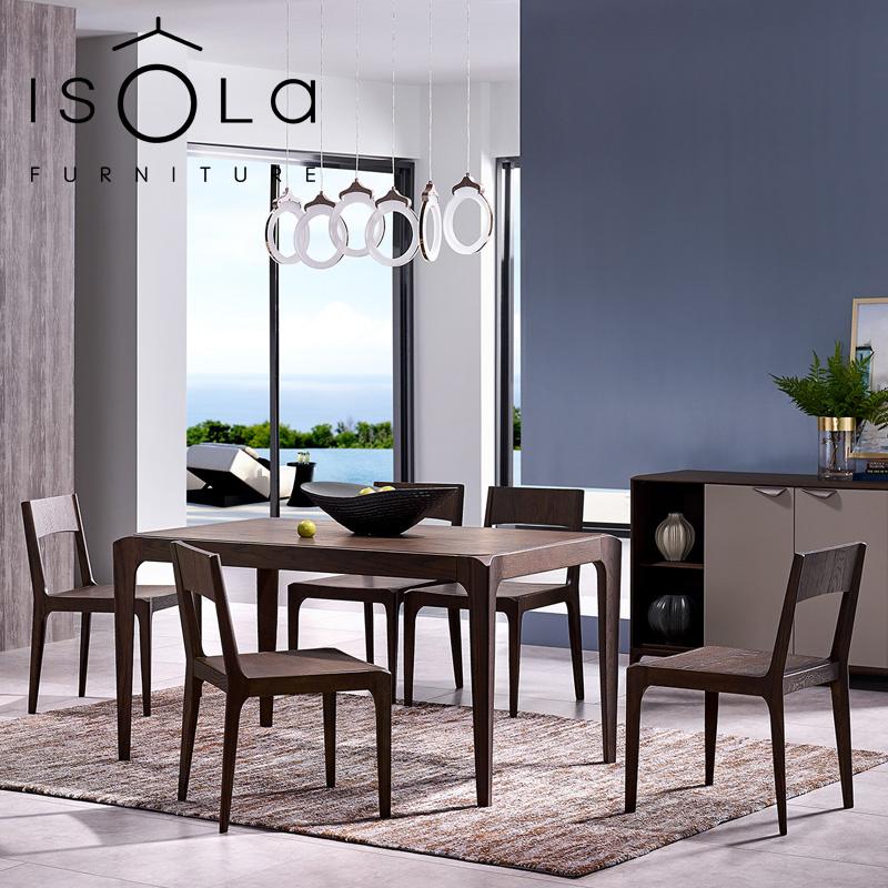 Huahe мебель ISOLA простой европейский массивный деревянный обеденный стол и стулья мебель для столовой