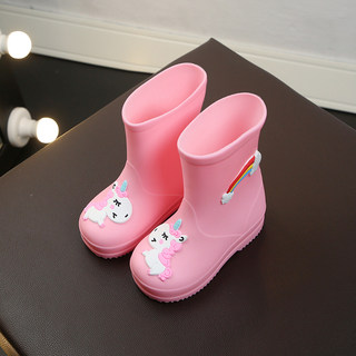 Children rain boots raincoat boys and girls students 1-10 years old water shoes dual-use non-slip kindergarten cartoon rain boots autumn and winter