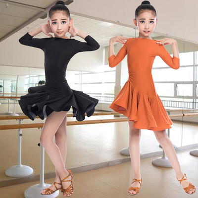 Girls Latin Dance Dresses Children's Latin dance skirt girl's Latin dance practice dress girl's dancing skirt test competition clothing