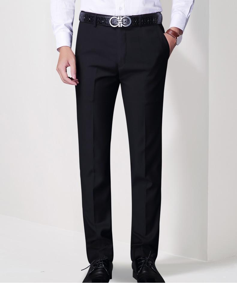 Quần nam mùa hè phần mỏng kinh doanh chuyên nghiệp ăn mặc quần của nam giới Hàn Quốc phiên bản của tự trồng chân thẳng phù hợp với quần để làm việc