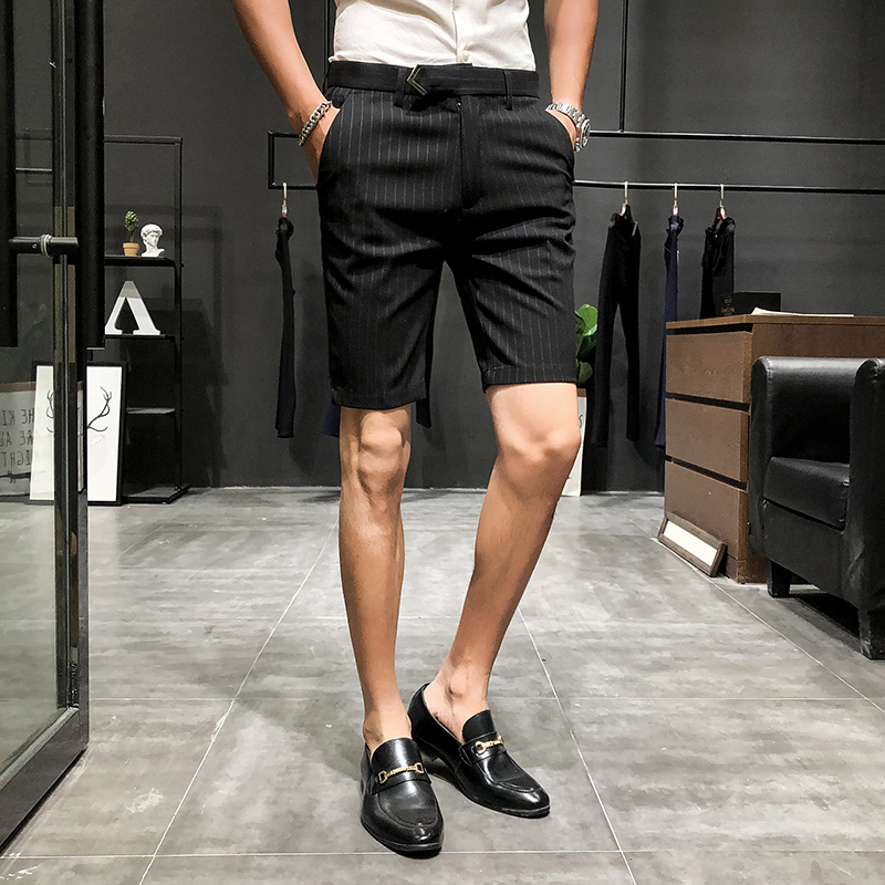 Quần tây nam 9 điểm phù hợp với quần kinh doanh bình thường chân phù hợp với quần nam phiên bản Hàn Quốc của xu hướng mỏng 9 điểm - Quần