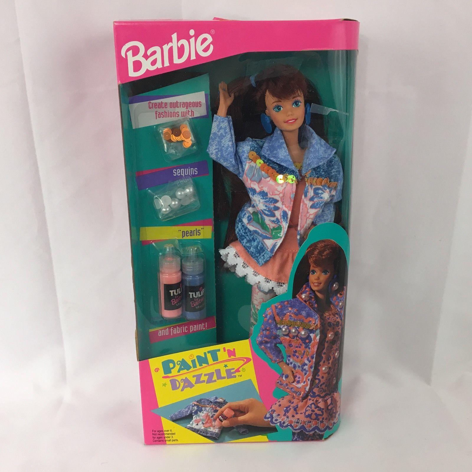 代購 芭比 PAINT n DAZZLE midge 美芝 甜美開口笑 棕發1993