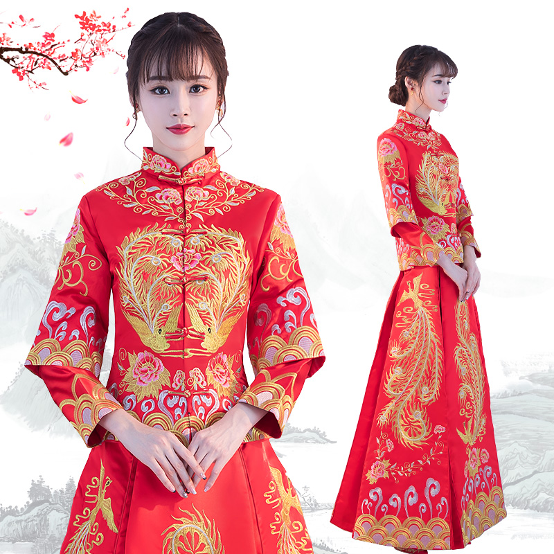 show wo clothing bride 2018 new female toast clothing large size